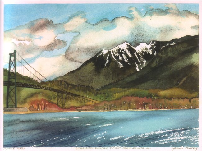 Lions Gate Bridge - Lions Head Mountains